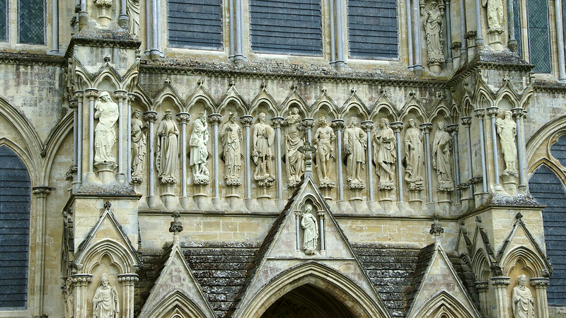 There is plenty of detailed carving on the exterior, especially on the front facade...